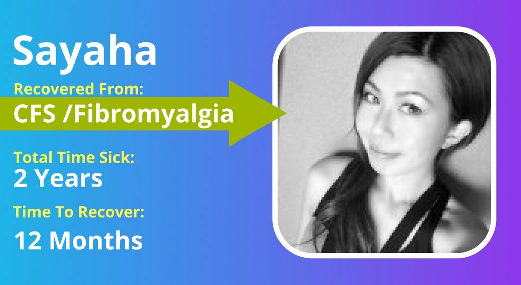 picture of Sahaya with ME/CFS Fibromyalgia recovery details