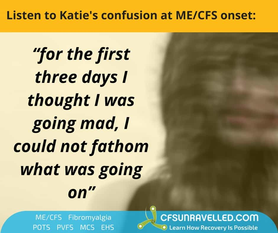 confused blurred person with quote of confusion about CFS symptoms