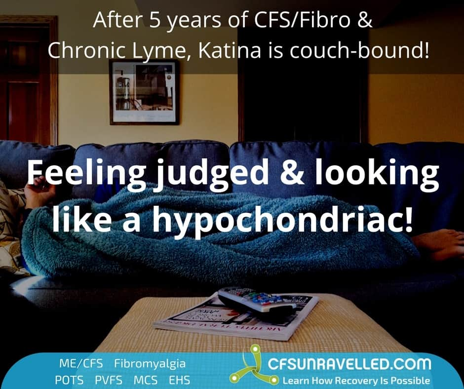 person with ME/CFS Fibromyalgia on lounge