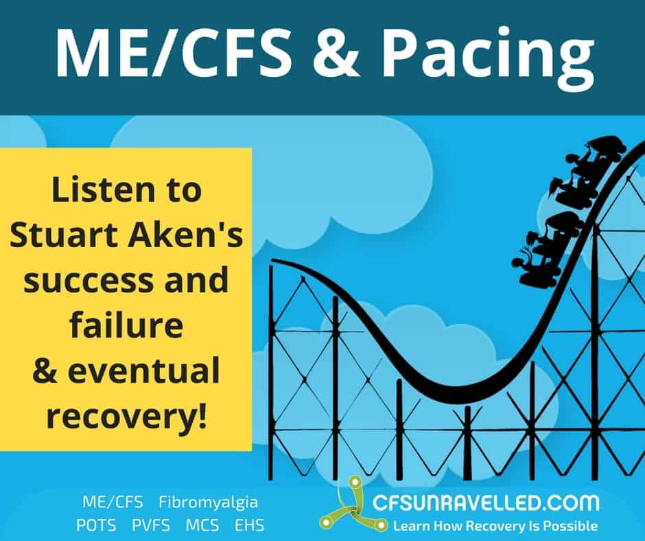 picture of rollercoaster of Stuart's ME/CFS recovery