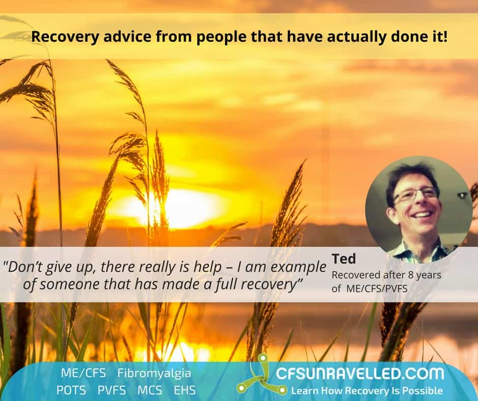 Teds PVFS recovery quote in front of sunset