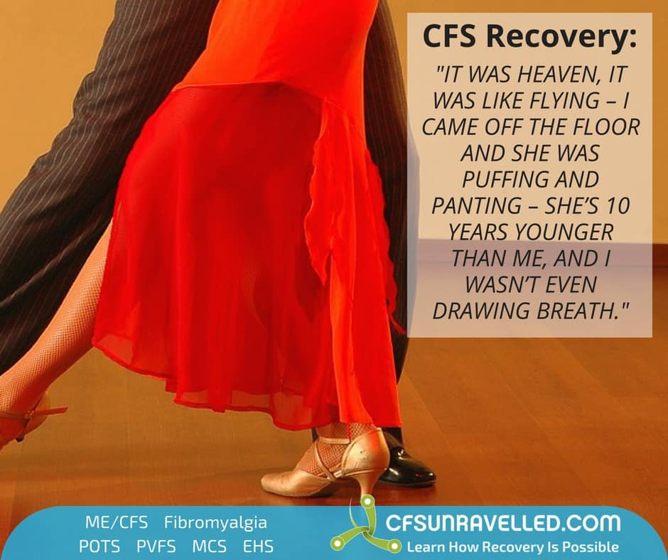 Ted ME/CFS  & PVFS quote next to tango dancers