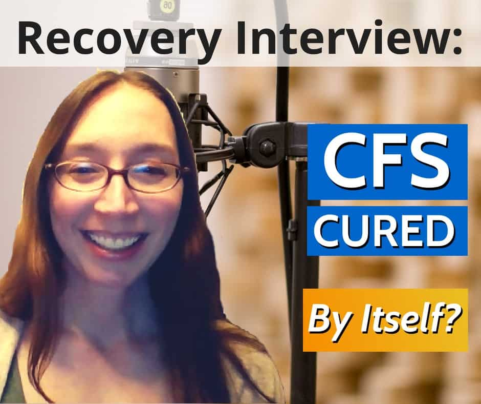 Kari talking to microphone about whether CFS cured itself