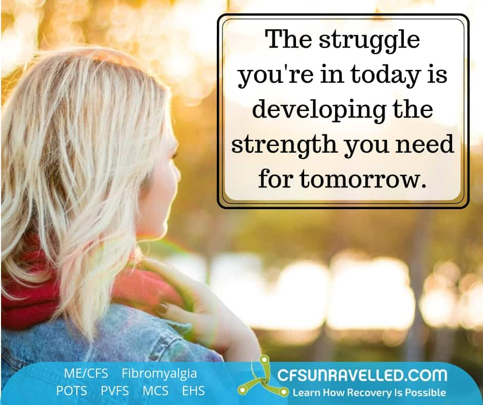 Finding strength to keep going with MECFS POTS Fibromyalgia