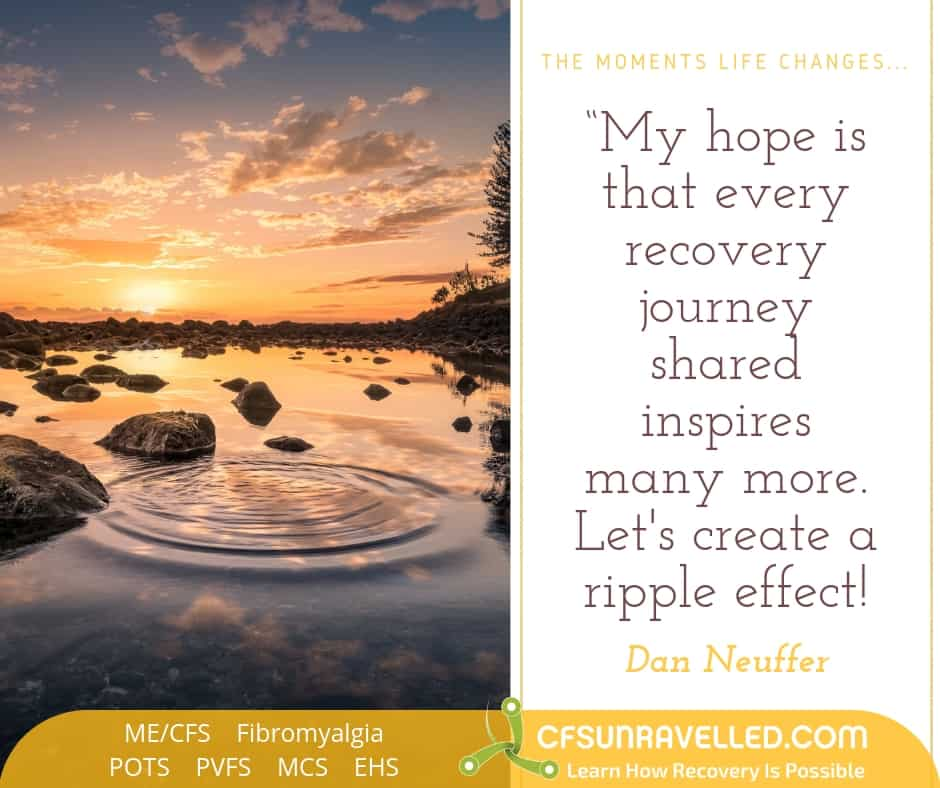 Inspiration for recovery with MECFS POTS Fibromyalgia