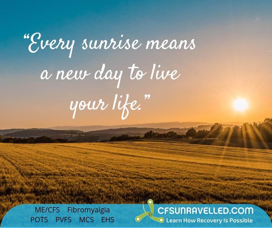sunrise represents a fresh new start