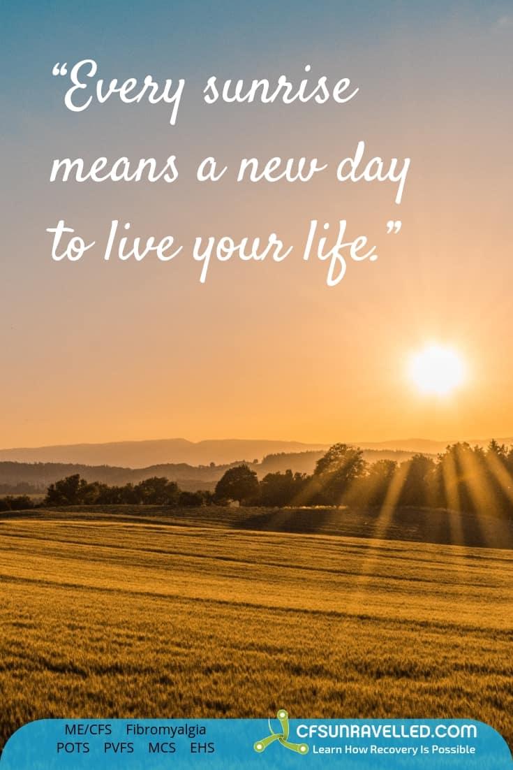 sunrise represents a fresh start