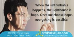 MECFS POTS Fibromyalgia Finding hope to keep going