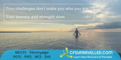 Inspiring others to be brave despite of all the challenges from MECFS POTS Fibromyalgia