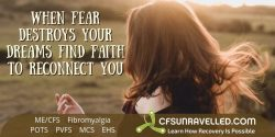 Finding faith when times are hard with MECFS POTS Fibromyalgia
