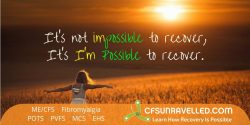 Recovery is possible with MECFS POTS Fibromyalgia