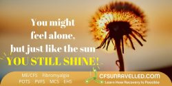 Inspiration that will give you strength when you feel alone with MECFS POTS Fibromyalgia