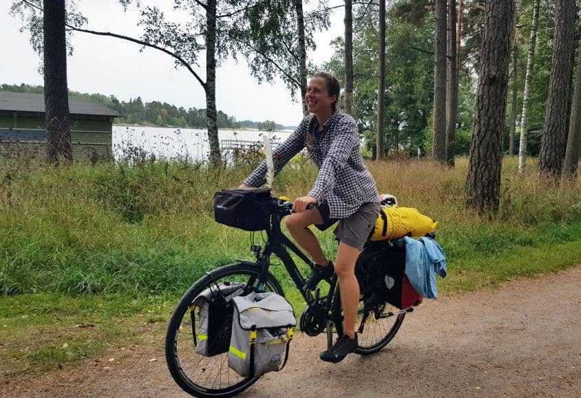 Life after ME/CFS/POTS - August 2018 in Helsinki: Sirin at the end of more the than 2000 km long bike tour.