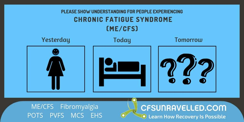 Let us support people experiencing Chronic Fatigue Syndrome