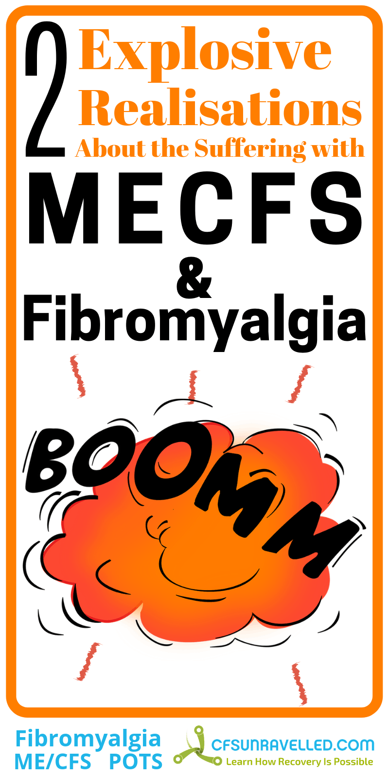 poster with explosion and boom about fibromyalgia mecfs realisation
