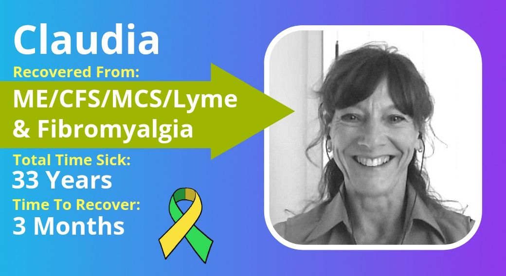 picture of Claudia with ME/CFS/MCS/Lyme/Fibromyalgia recovery details