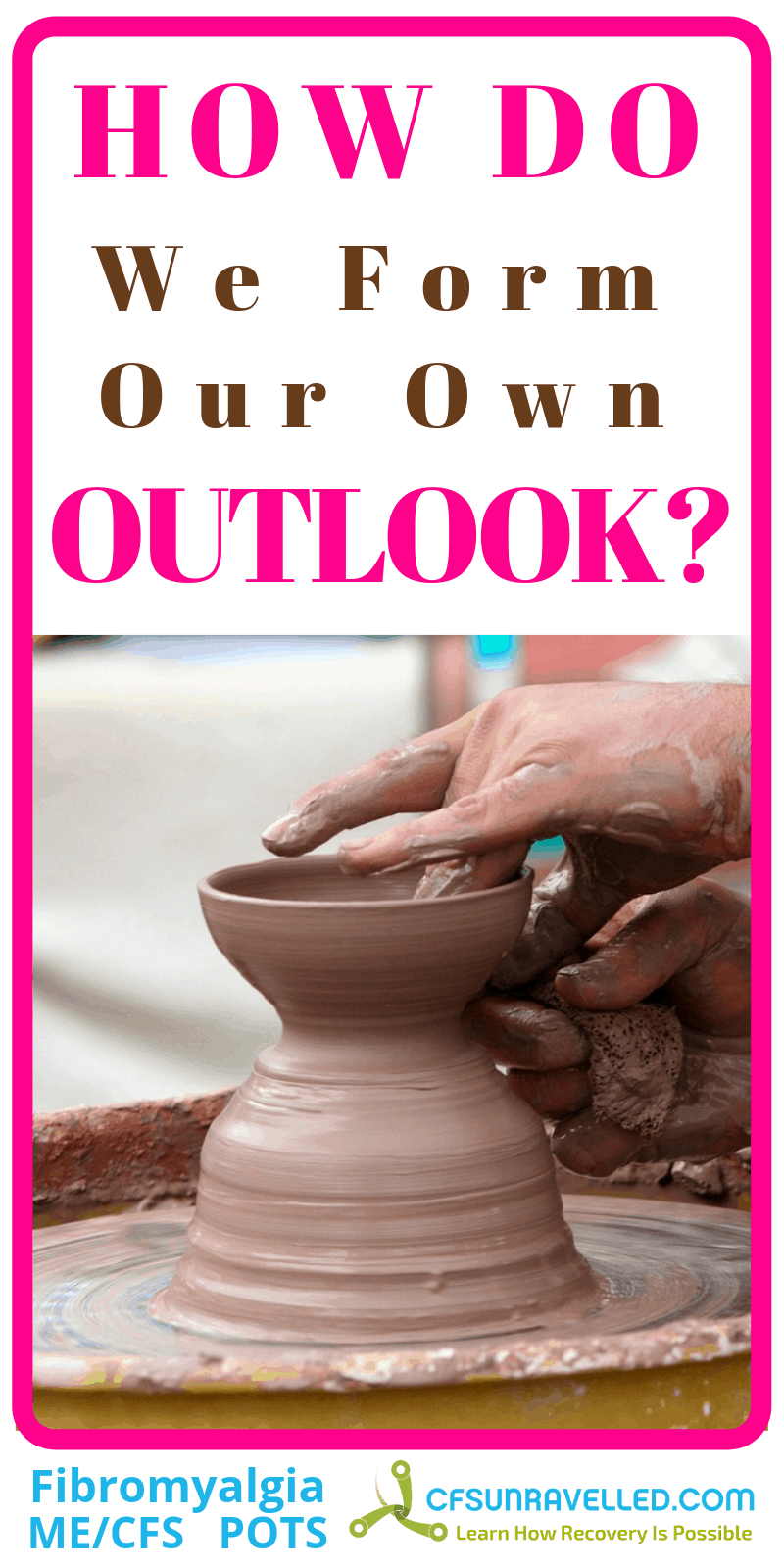 poster about outlook with clay pottery