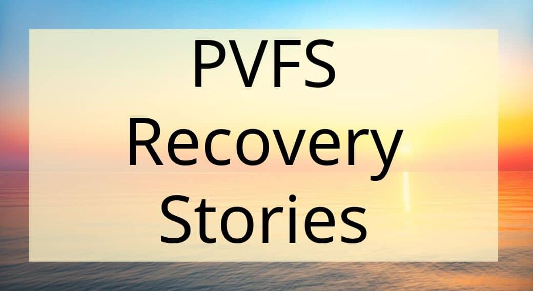 sunset background with words PVFS recovery stories