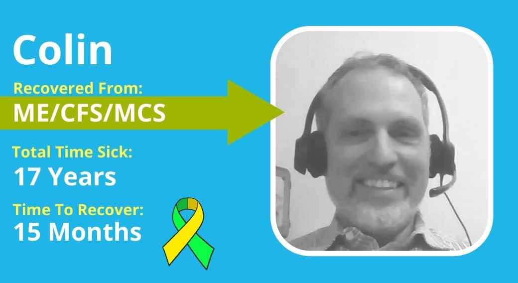 picture of Colin with ME/CFS & MCS recovery details