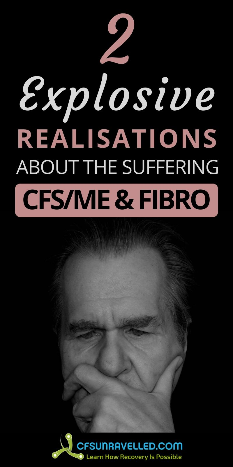 man deeply thinking with realisations about the suffering with CFS/ME and Fibro