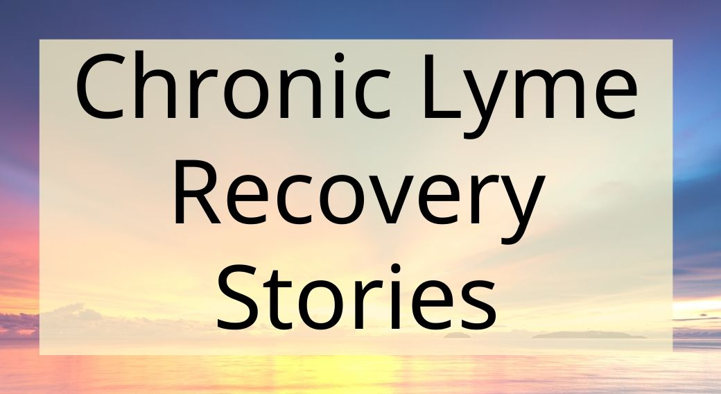 sunset background with chronic lyme recovery stories